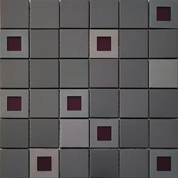 Moz szkl metal 32,2x32,2 Jazz Black czarne kwadraty z fioletem /15