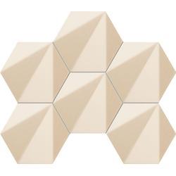 Mozaika ścienna Chenille beige hex 28,9x22,1 Gat.1
