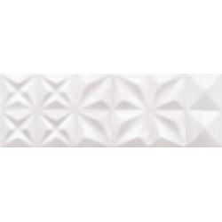ŚCIANA DELICATE LINES WHITE GLOSSY STRUCTURE 25X75 G1 (1.12) OP432-004-1