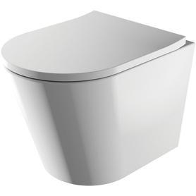 miska toaletowa wisząca bezkołnierzowa z deską TAMPA Chrom/Biały TAMPAMWBP-SL