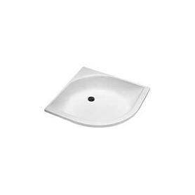BRODZIK GŁĘBOKI półokrągły 80x80x21cm biały - XBN0380000