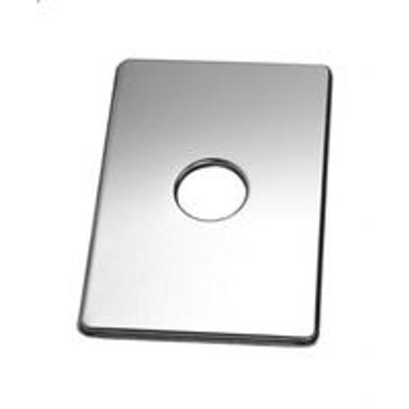 Flansza o wymiarach 110x160mm wykonana ze stali nierdzewnej