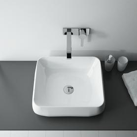 Umywalka Etno 46x40 cm nablatowa prostokątna biała 145039