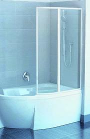 Parawan nawannowy VSK2-100 ROSA II 170 R biały Rain  76PB010041