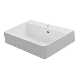 CHANIA umywalka nablatowa/wisząca Marble+, 60x45cm, biały połysk      CHANIABP
