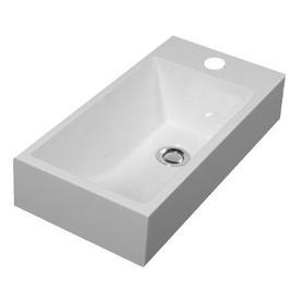 CORFU umywalka nablatowa/wisząca Marble+, 50x25cm, biały połysk      CORFUBP