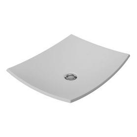 IBIZA umywalka nablatowa Marble+, 50x40cm, biały połysk      IBIZABP