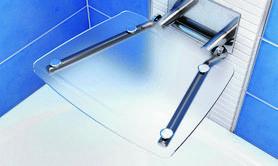Siedzisko prysznicowe OVO-B Clear  B8F0000015