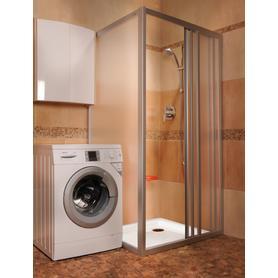 Ścianka prysznicowa APSS-90 biała Transparent  94070102Z1