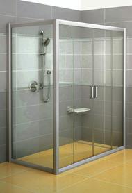 Ścianka prysznicowa RPS-90 biała Transparent  9RV70100Z1