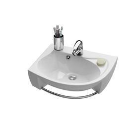 Umywalka Rosa L biała z otworami   XJ2L1100000