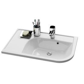 """Umywalka Praktik """"U"""" R biała z otworami   XJ5P1100000"""