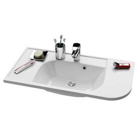 "Umywalka Praktik ""S"" R biała z otworami   XJ6P1100000"