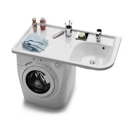 """Umywalka Praktik """"W"""" R biała z otworami   XJ7P1100000"""