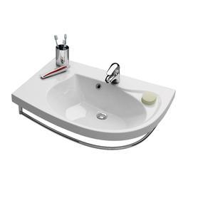 Umywalka Rosa Comfort L biała z otworami   XJ8L1100000