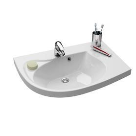 Umywalka Rosa Comfort nablatowa L biała z otworami  XJ8L11N0000