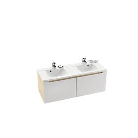 Umywalka BeHappy R biała z otworami   XJAP1100000