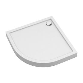 CAMDEN brodzik prysznicowy akrylowy, półokrągły, 80x80cm, biały połysk     CAMDEN80/OBP