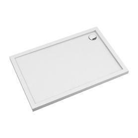 MERTON brodzik prysznicowy akrylowy, prostokątny, 80x120cm, biały połysk     MERTON80/120/PBP