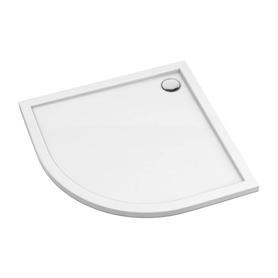 MERTON brodzik prysznicowy akrylowy, półokrągły, 80x80cm, biały połysk     MERTON80/OBP