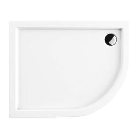 RIVERSIDE brodzik prysznicowy akrylowy, półokrągły, 100x80cm, biały połysk     RIVERSIDE80/100/LBP