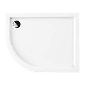 RIVERSIDE brodzik prysznicowy akrylowy, półokrągły, 80x100cm, biały połysk     RIVERSIDE80/100/PBP