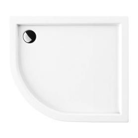 RIVERSIDE brodzik prysznicowy akrylowy, półokrągły, 80x90cm, biały połysk     RIVERSIDE80/90/PBP