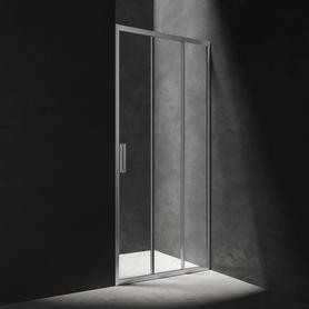 MANHATTAN drzwi prysznicowe przesuwne, trójdzielne, 80cm, chrom/transparentny     NDT80XCRTR