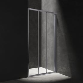 S drzwi prysznicowe przesuwne, trójdzielne, 110cm, chrom/transparentny     S20A3110CRTR