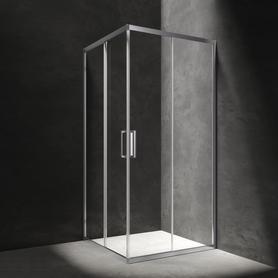 CHELSEA kabina kwadratowa, drzwi przesuwne, 80cm, chrom/transparentny     NDC80XCRTR