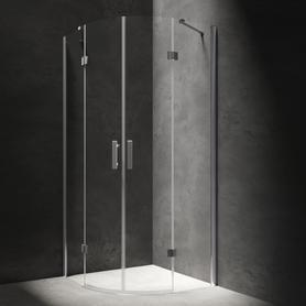 MANHATTAN kabina półokrągła, drzwi uchylne, 90x90cm, chrom/transparentny     ADF94XLUX-TCRTR