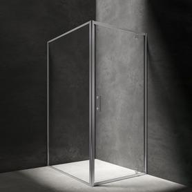 S kabina prostokątna, drzwi uchylne, 90x120cm, chrom/transparentny     S-90/120KCRTR