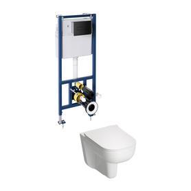 DENVER miska z deską DENVER i zestawem podtynkowym do WC CLASSIC 3w1 DENVERSETBPBL