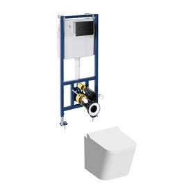 FONTANA miska z deską FONTANA i zestawem podtynkowym do WC CLASSIC 3w1 FONTANASETBPBL