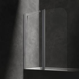 MAYFAIR parawan nawannowy, ze ścianką stałą, 115cm, chrom/transparentny    QP95B-LLUXCRTR