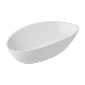 BARCELONA umywalka nablatowa Marble+, 60x36,1cm, biały połysk      BARCELONABP