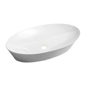 LAREDO umywalka nablatowa, 61x37cm, biały połysk       LAREDO605BP
