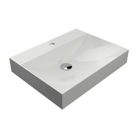 NAXOS umywalka nablatowa/wisząca Marble+, 60x46cm, biały połysk      NAXOS600BP
