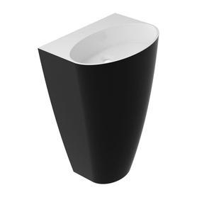 SIENA umywalka wolnostojąca Marble+, 55x43cm, biały/czarny połysk      SIENAUWBOBCP