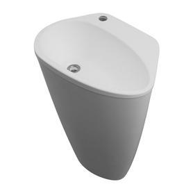 SYCYLIA umywalka wolnostojąca Marble+, 56,5x41,2cm, biały połysk      SYCYLIABP