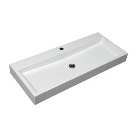 THASOS umywalka nablatowa/wisząca Marble+, 100x42cm, biały połysk      THASOS1000BP