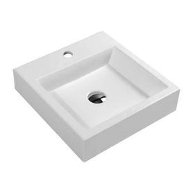 THASOS umywalka nablatowa/wisząca Marble+, 42x42cm, biały połysk      THASOS420BP