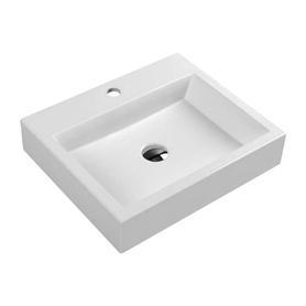 THASOS umywalka nablatowa/wisząca Marble+, 50x42cm, biały połysk      THASOS500BP