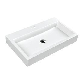 THASOS umywalka nablatowa/wisząca Marble+, 70x42cm, biały połysk      THASOS700BP