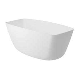 FERRARA wanna Marble+, 156,5x70x58cm, biały połysk       FERRARA156BP