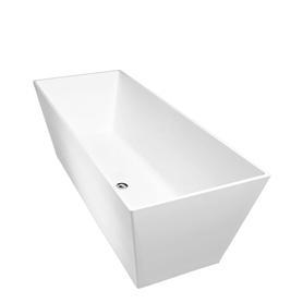 LONDON wanna Marble+, 159,5x65,5x55cm, biały mat      LONDON159BM