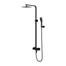 PARMA system prysznicowy natynkowy, czarny mat       PM7444BL