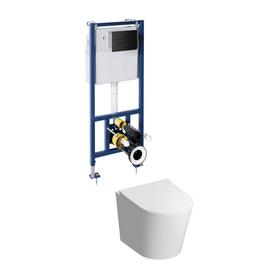 TAMPA miska z deską TAMPA i zestawem podtynkowym do WC CLASSIC 3w1 TAMPASETBPBL