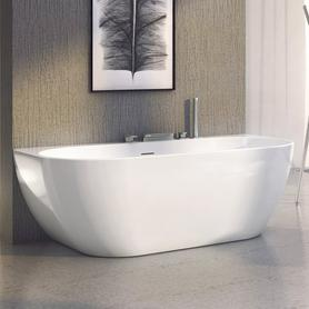 Freedom W wanna akrylowa prostokątny wolnostojąca 1660 x 800 mm biała z zestawem odpływowym z nóżkami