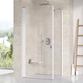 Ścianka prysznicowa CPS-90 biała Transparent  9QV70100Z1